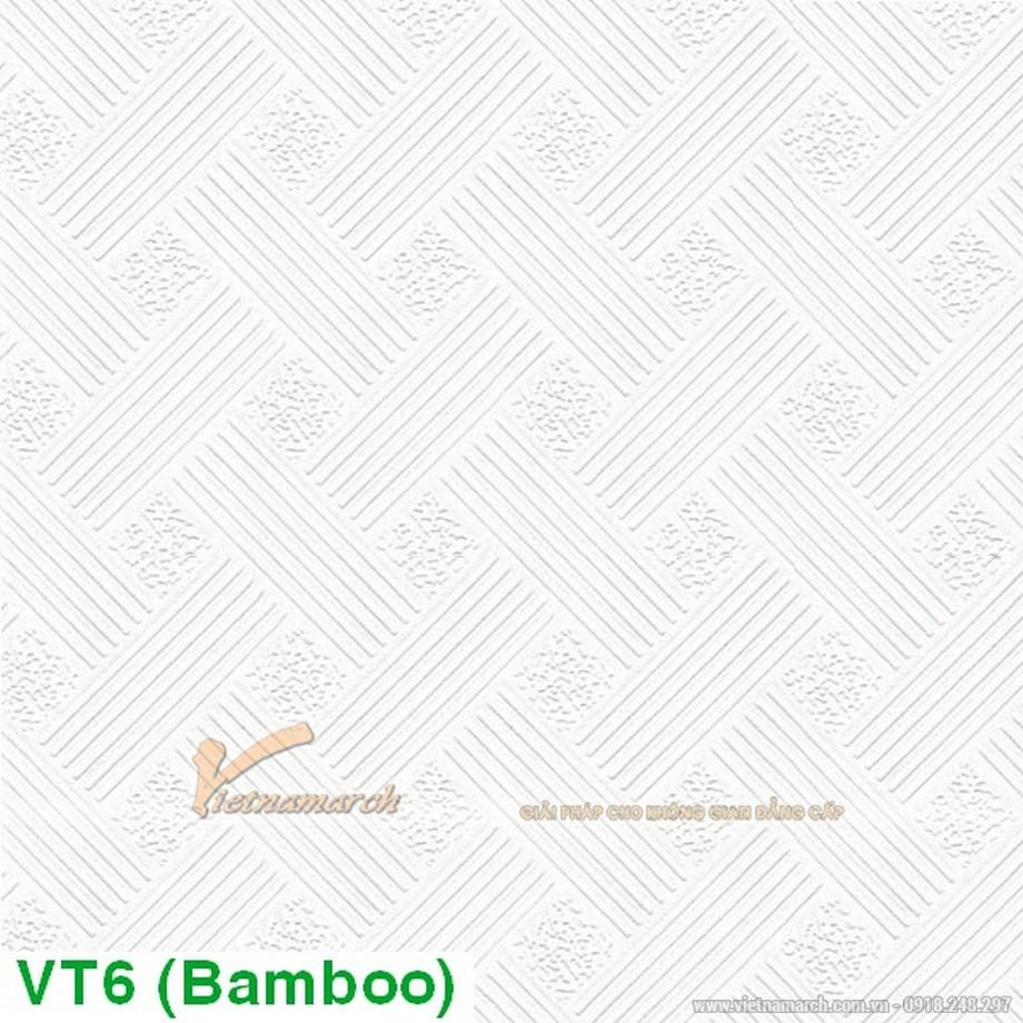 tấm PVC Bamboo VT6 vào thi công.