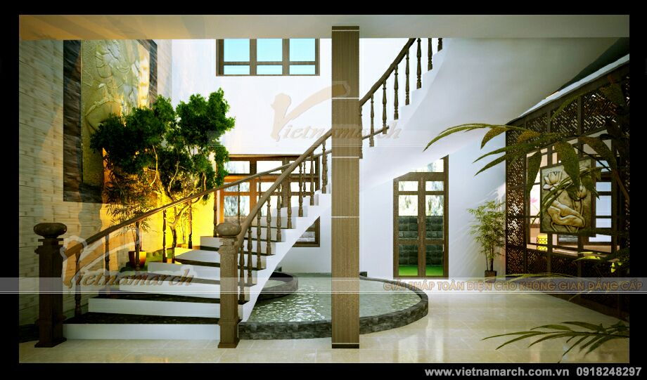 Thiết kế nội thất biệt thự phố mang đậm phong cách Á Đông truyền thống tại Tuyên Quang
