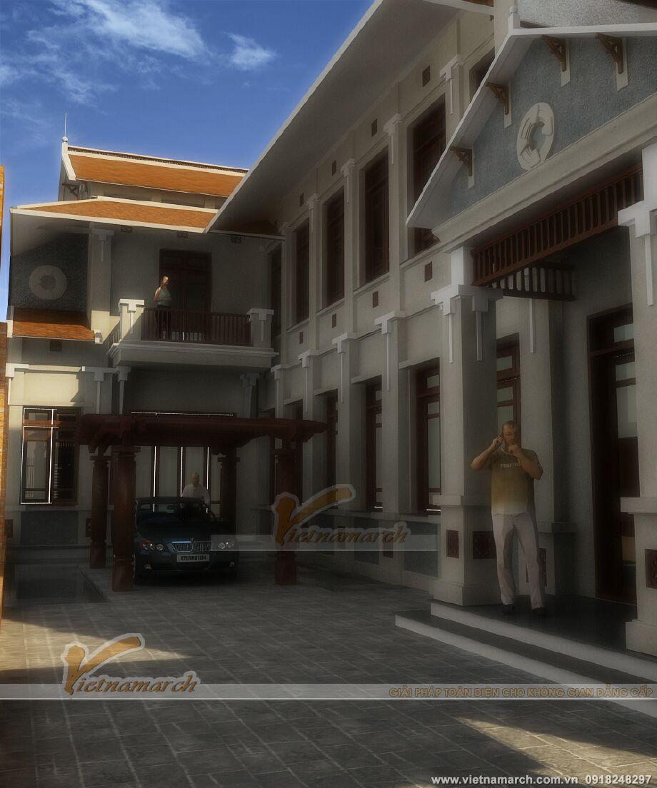 Thiết kế biệt thự phố mang đậm phong cách Á Đông truyền thống tại Tuyên Quang