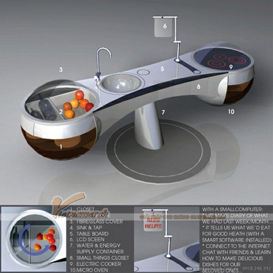 Bàn bếp rửa hiện đại cao cấp của tương lai