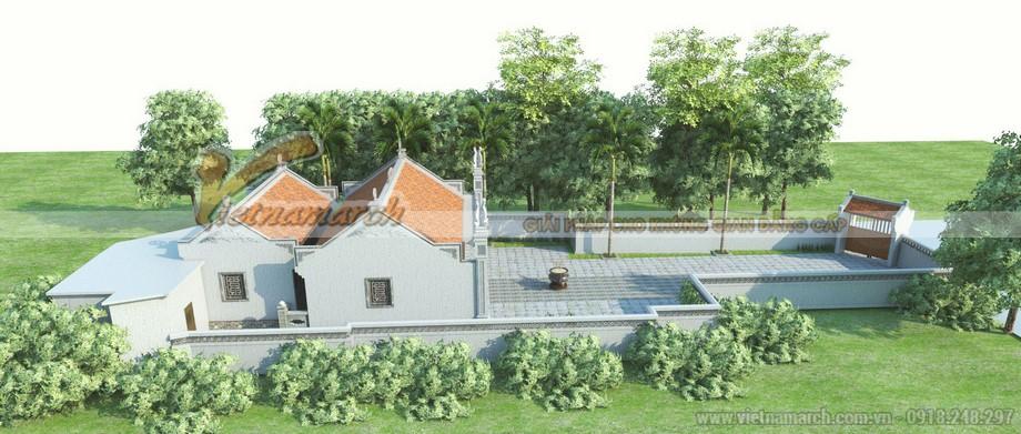 Phối cảnh xung quanh của thiết kế nhà thờ họ Diêm Điền ở Thái Bình