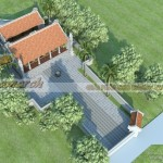 Phương án thiết kế nhà thờ tổ chữ Nhị tại Diêm Điền – Thái Bình