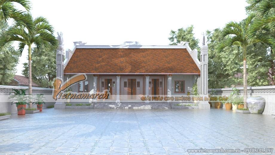 Thiết kế nhà thờ họ kết hợp nhà ở ba gian - hai chái