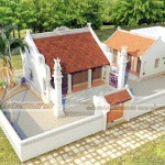 Thiết kế nhà thờ họ kết hợp nhà ngang ở Ninh Giang – Hải Dương