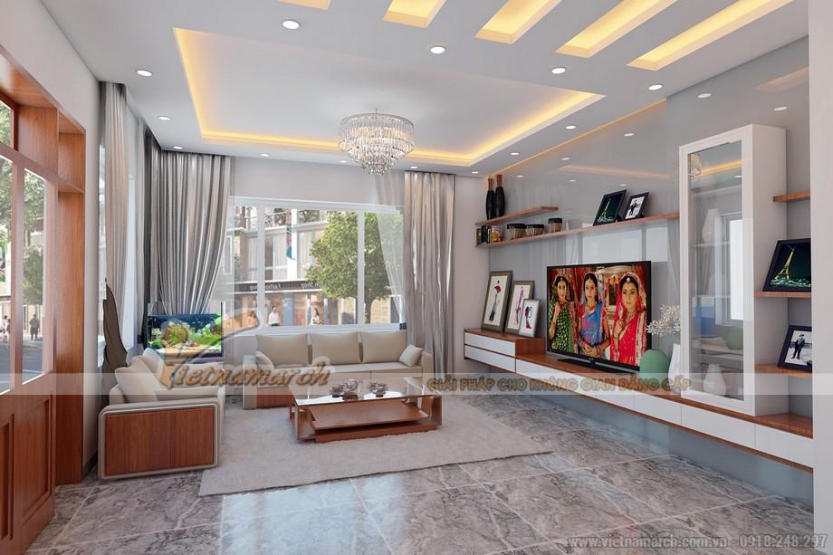Nét đẹp hiền hòa và hiện đại của phòng khách tầng 1 trong căn biệt thự Bắc Ninh