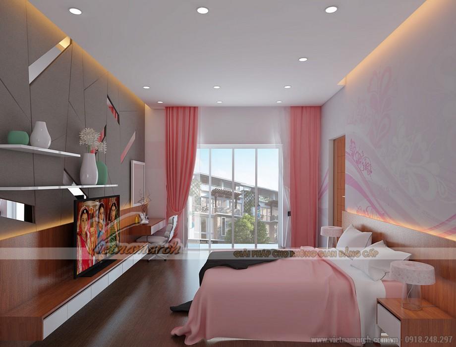 Phòng ngủ dành cho con gái phù hợp với lứa tuổi thiếu nhi tràn ngập sắc hồng