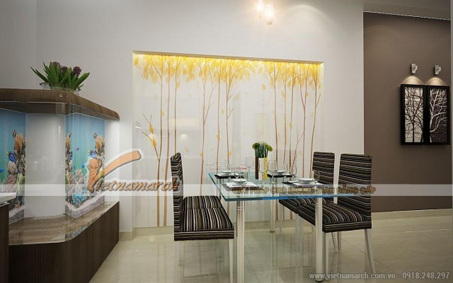 Phòng ăn và nhà bếp thông nhau có thiết kế hiện đại