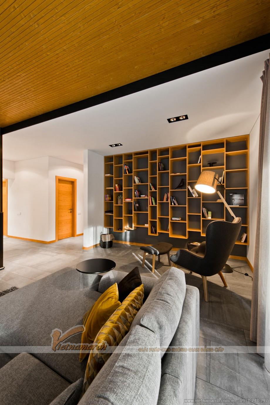 """Kiến trúc và nội thất sắp xếp hài hòa """" chuẩn không cần chỉnh"""" để toát lên vẻ đẹp sang chảnh của căn phòng"""