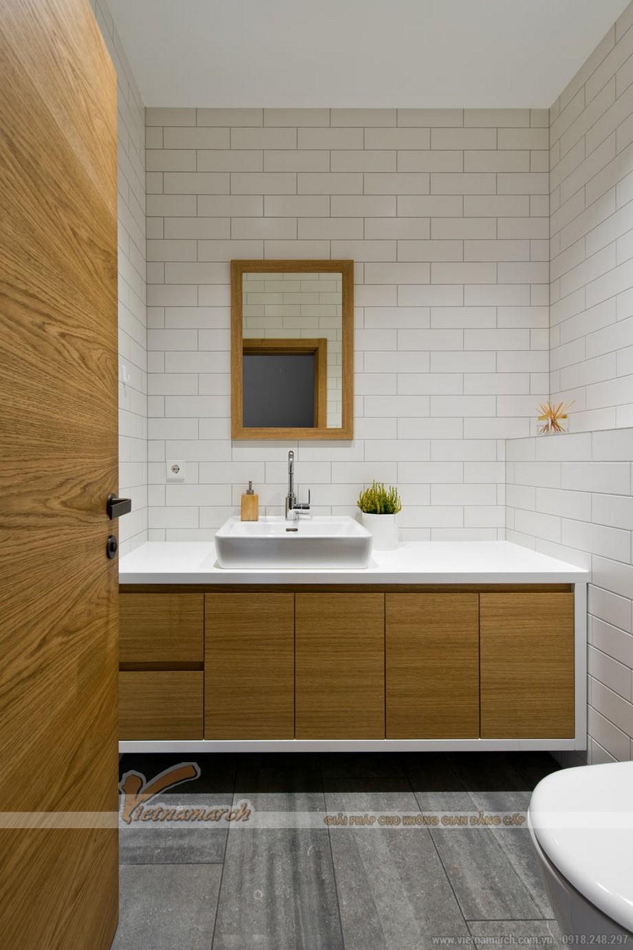 Thiết kế nội thất phòng tắm sang trọng, giạn dị không cầu kì phô trương