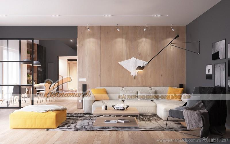 Thiết kế nội thất phòng khách căn hộ Waterfront City