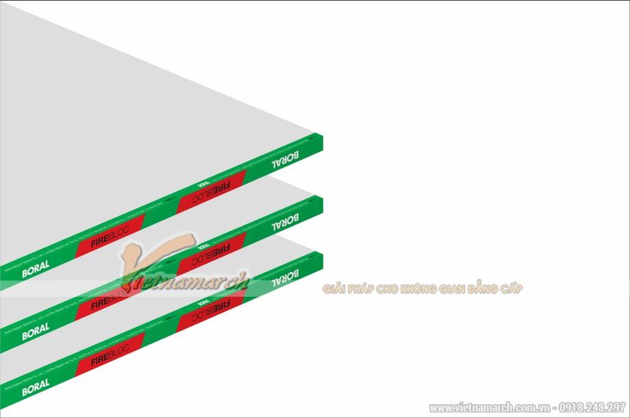 Tấm thạch cao chống cháy Boral Firebloc - 01