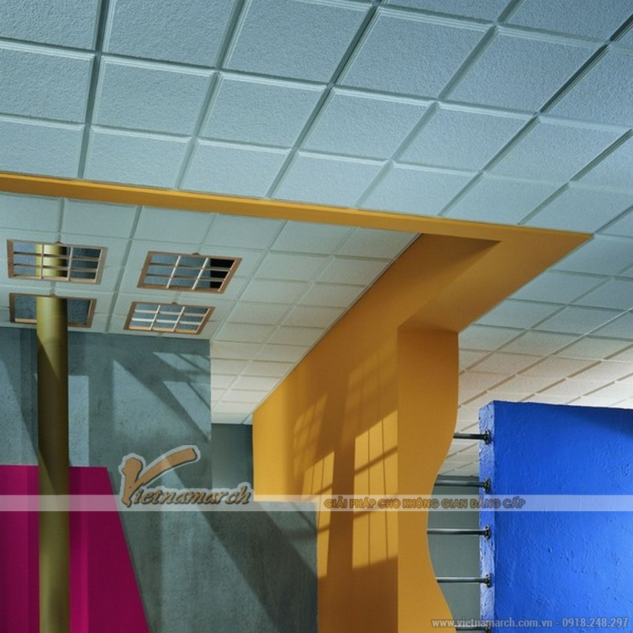 Tấm trần sợi khoáng USG - Radar Ceramic ClimaPus - 01