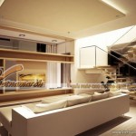 Thiết kế trần thạch cao tiêu âm cực tốt cho căn biệt thự nhà anh Minh – Bắc Ninh