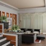 Không gian phòng khách cực kỳ lôi cuốn với mẫu trần thạch cao hiện đại