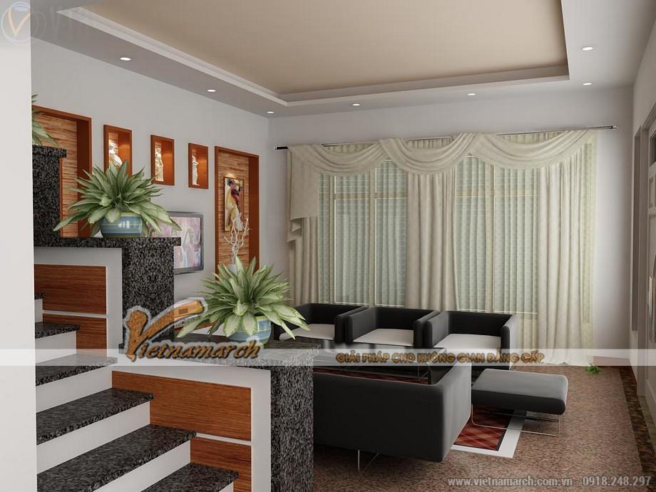 Không gian phòng khách cực xinh với mẫu trần thạch cao hiện đại - 07