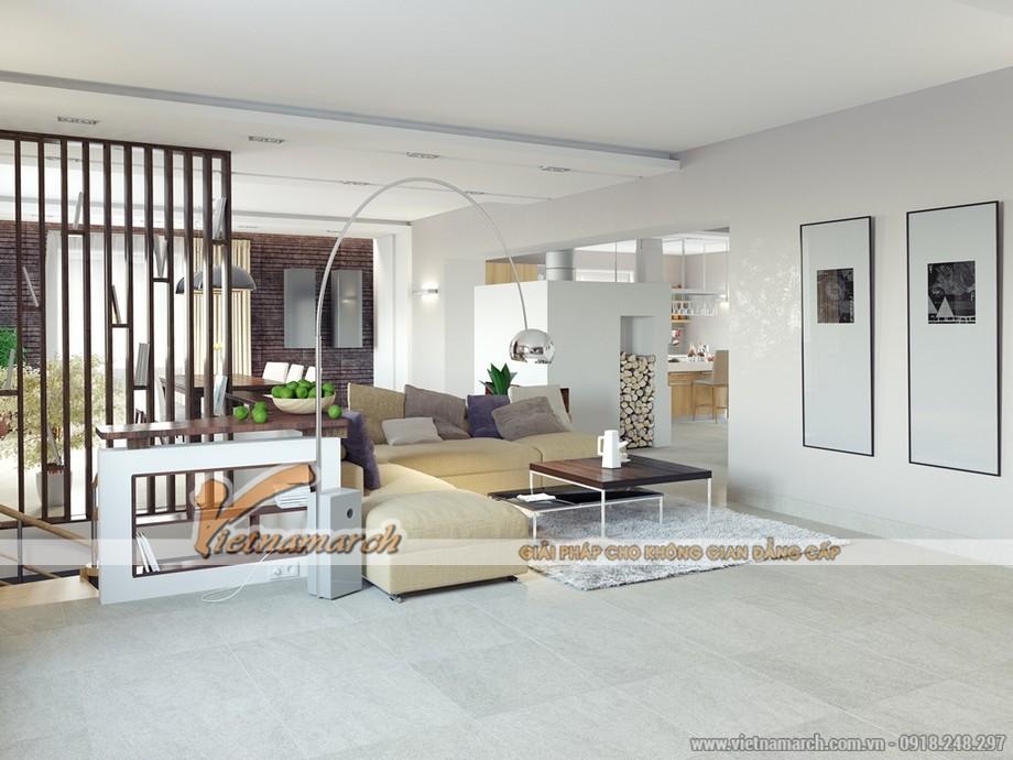 Chiêm ngưỡng mẫu trần thạch cao phẳng cho phòng khách tại chung cư Times City - 01