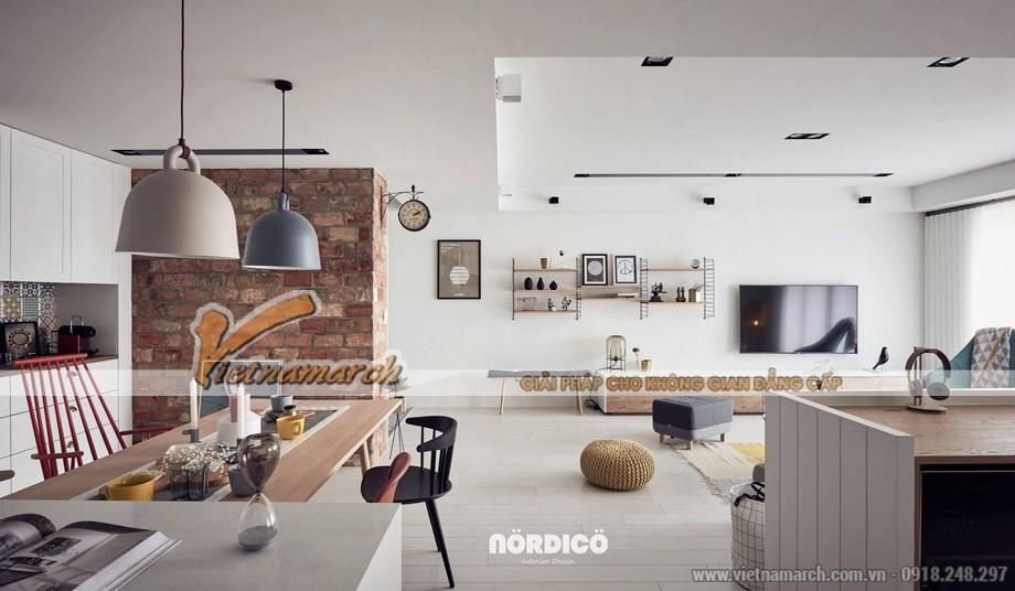 Mẫu trần thạch cao phòng khách và phòng bếp cho căn hộ chung cư D'.Le Roi Soleil Quảng An nhà anh Quỳnh - 05