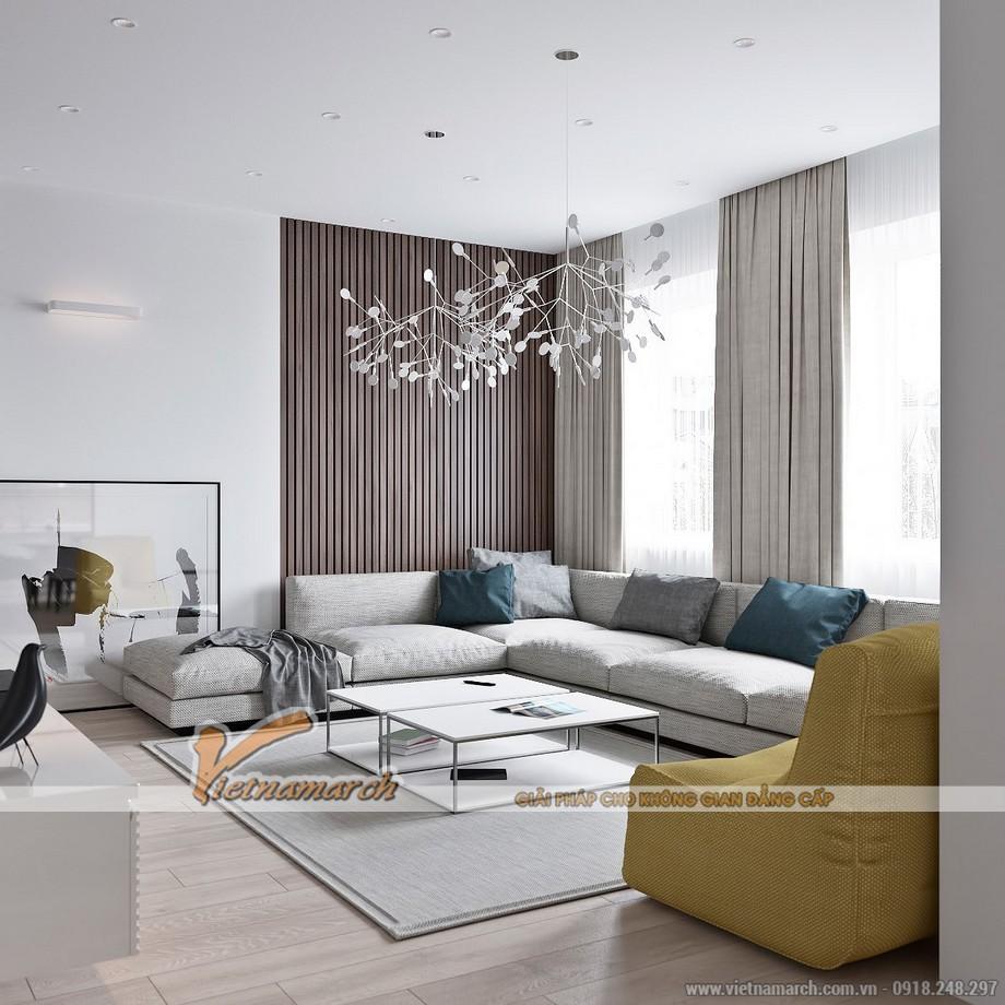 Mẫu trần thạch cao đột phá cho căn hộ chung cư cao cấp Goldmark City nhà anh Hùng - 01