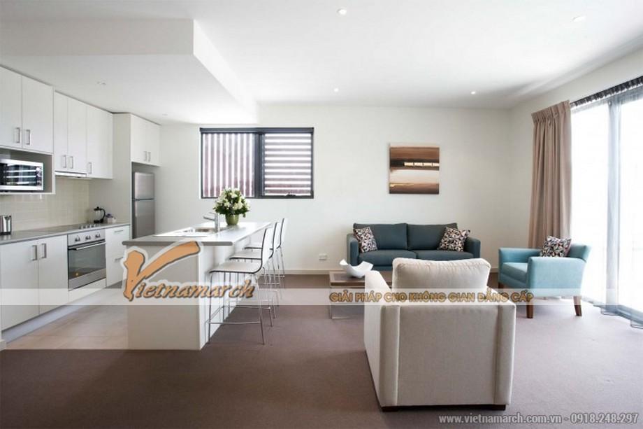 Chiêm ngưỡng mẫu trần thạch cao phẳng cho phòng khách tại chung cư Times City - 02