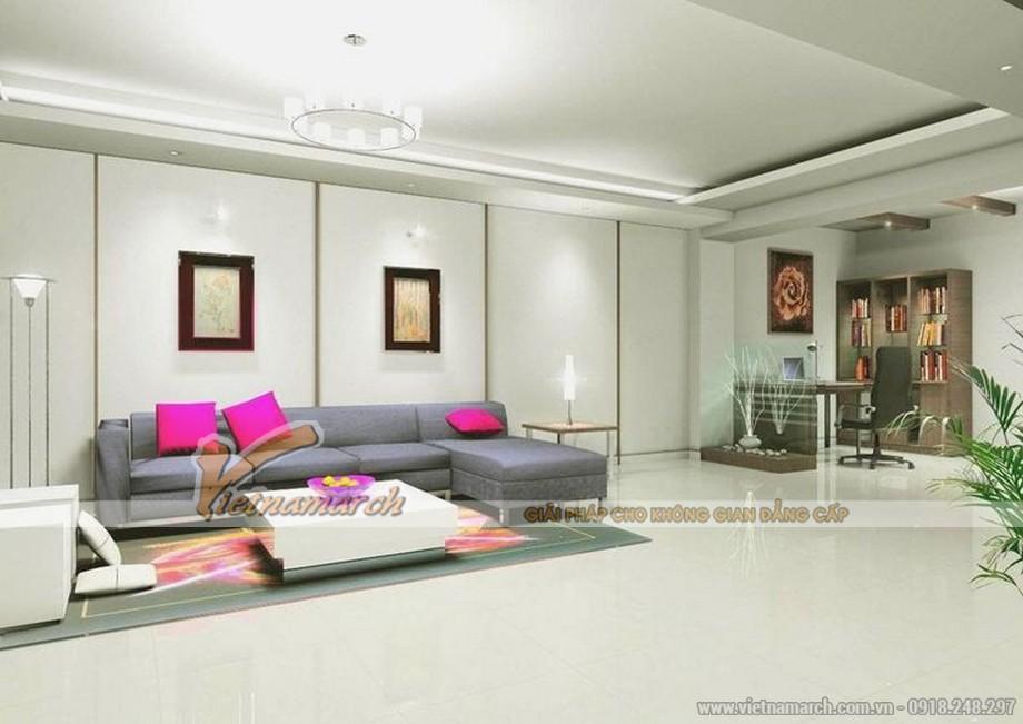 Ý tưởng thiết kế trần thạch cao cho căn hộ chung cư cao cấp - 03