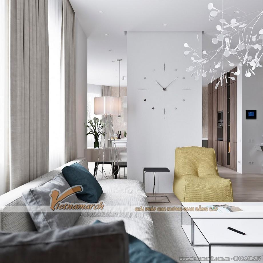 Không gian phòng khách cực xinh với mẫu trần thạch cao hiện đại - 01