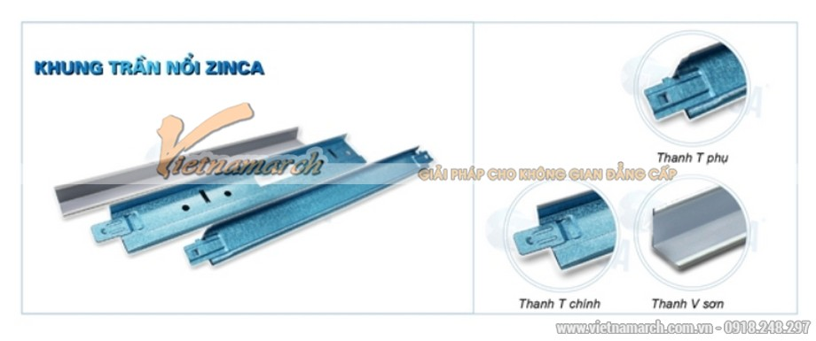 Khung xương trần nổi Zinca Blue - 04