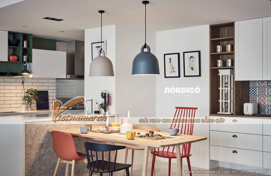 Mẫu trần thạch cao phòng khách và phòng bếp cho căn hộ chung cư D'.Le Roi Soleil Quảng An nhà anh Quỳnh - 08