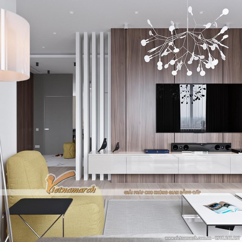 Mẫu trần thạch cao đột phá cho căn hộ chung cư cao cấp Goldmark City nhà anh Hùng - 03