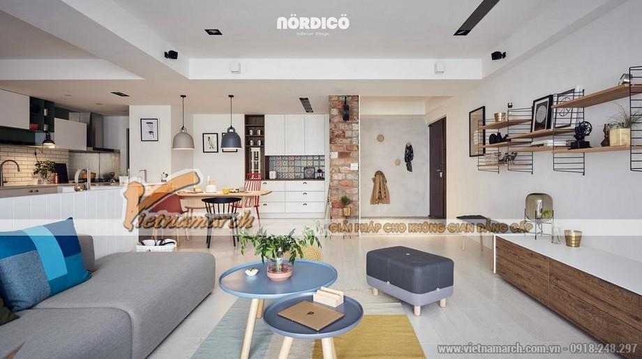 mẫu trần thạch cao phòng khách và phòng bếp cho căn hộ chung cư D'.Le Roi Soleil Quảng An nhà anh Quỳnh - 01