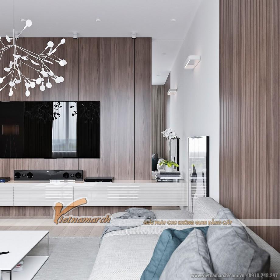 Mẫu trần thạch cao đột phá cho căn hộ chung cư cao cấp Goldmark City nhà anh Hùng - 04