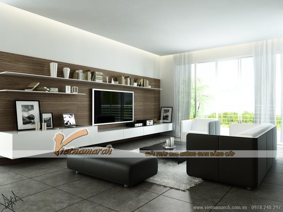 Chiêm ngưỡng mẫu trần thạch cao phẳng cho phòng khách tại chung cư Times City - 05