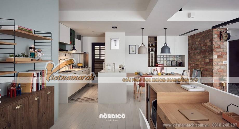 Mẫu trần thạch cao phòng khách và phòng bếp cho căn hộ chung cư D'.Le Roi Soleil Quảng An nhà anh Quỳnh - 06