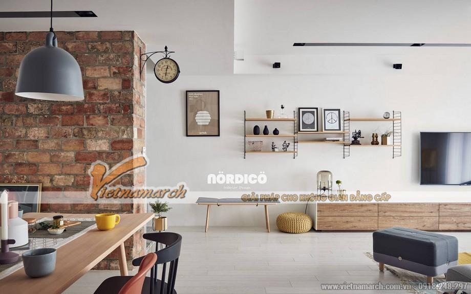 Mẫu trần thạch cao phòng khách và phòng bếp cho căn hộ chung cư D'.Le Roi Soleil Quảng An nhà anh Quỳnh - 07