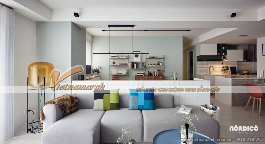 Mẫu trần thạch cao phòng khách và phòng bếp cho căn hộ chung cư D'.Le Roi Soleil Quảng An nhà anh Quỳnh - 03