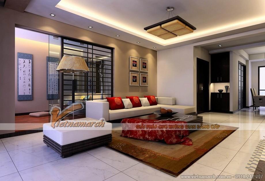 Tổng hợp mẫu trần thạch cao phòng khách cho căn hộ chung cư Goldmark City - 03