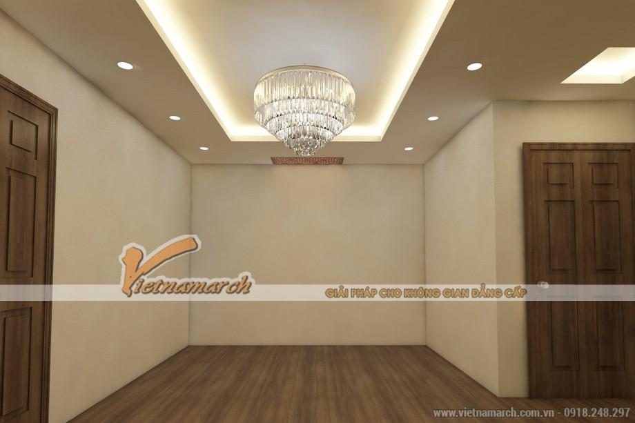 Mẫu trần thạch cao giật cấp đẹp lung linh cho căn hộ chung cư D'.Le Roi Soleil Quảng An nhà anh Kiên - 03