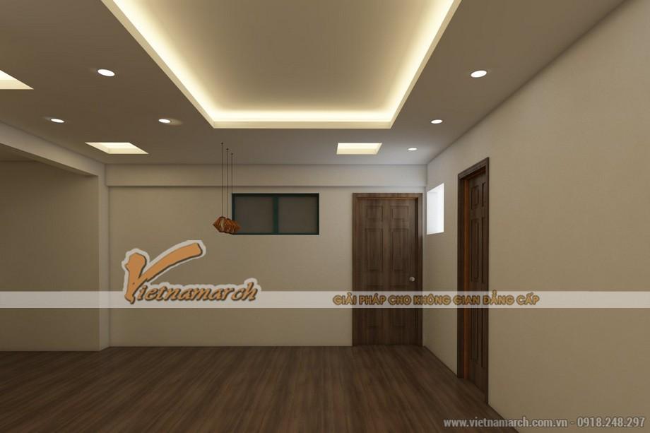 Mẫu trần thạch cao giật cấp đẹp lung linh cho căn hộ chung cư D'.Le Roi Soleil Quảng An nhà anh Kiên - 05