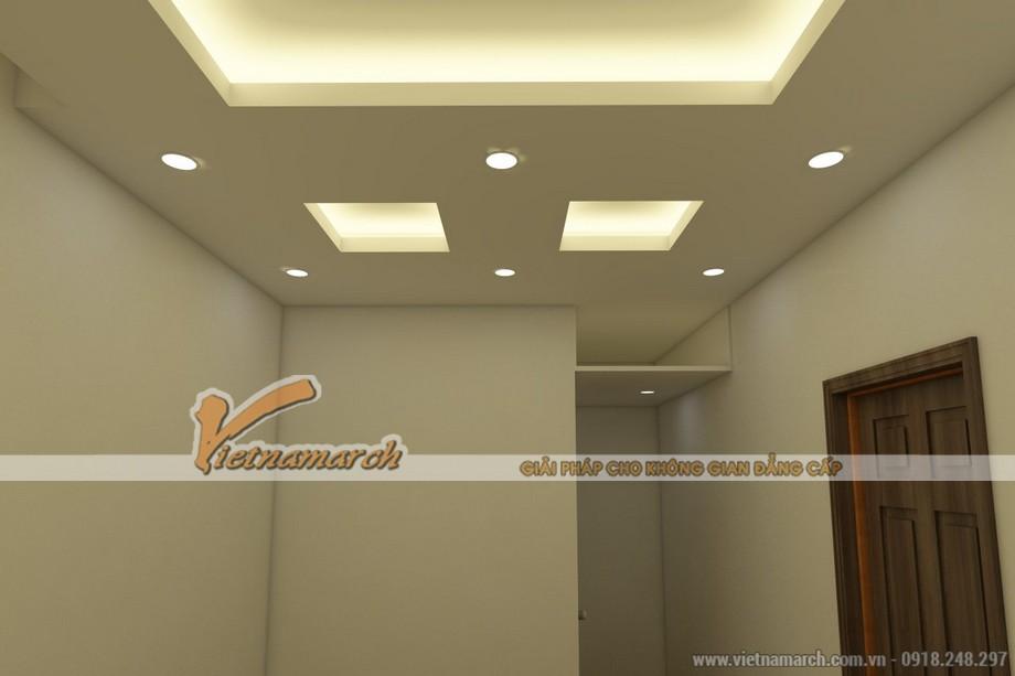 Mẫu trần thạch cao giật cấp đẹp lung linh cho căn hộ chung cư D'.Le Roi Soleil Quảng An nhà anh Kiên - 06