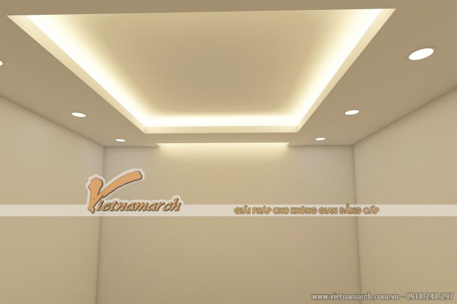 Mẫu trần thạch cao giật cấp đẹp lung linh cho căn hộ chung cư D'.Le Roi Soleil Quảng An nhà anh Kiên - 07