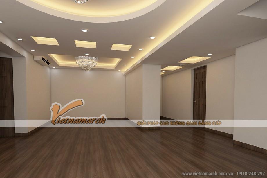 Mẫu trần thạch cao giật cấp đẹp lung linh cho căn hộ chung cư D'.Le Roi Soleil Quảng An nhà anh Kiên - 01