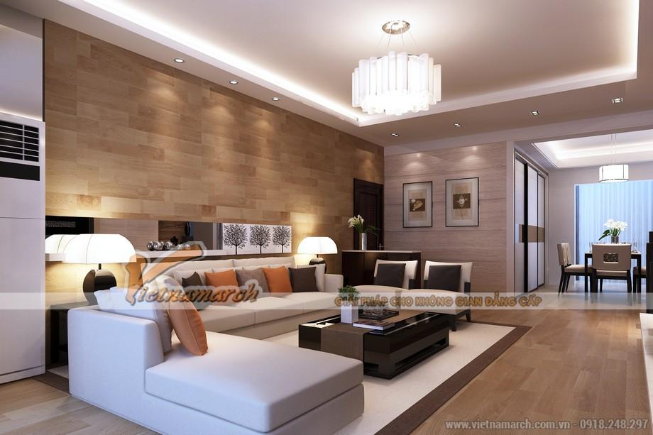mẫu trần thạch cao cho phòng khách căn hộ chung cư D'.Le Roi Soleil Quảng An - 02