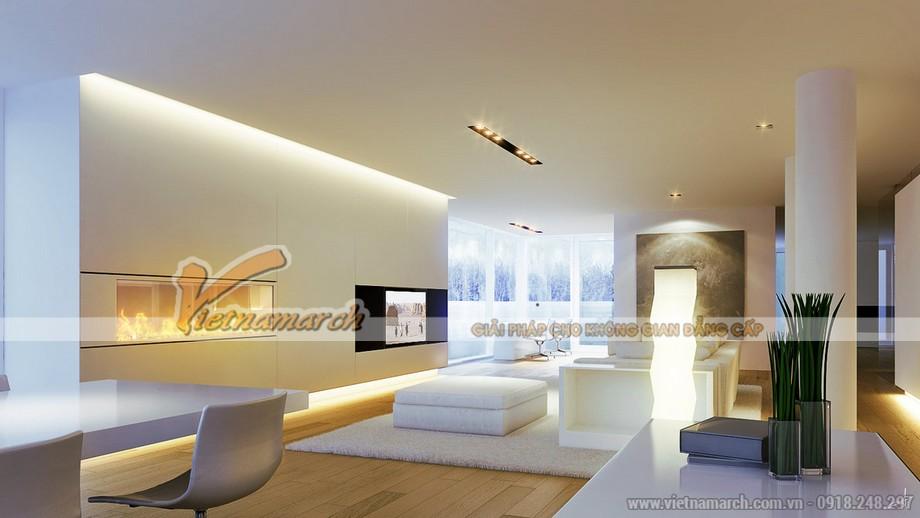 Mẫu trần thạch cao cho phòng khách căn hộ chung cư D'.Le Roi Soleil Quảng An - 03