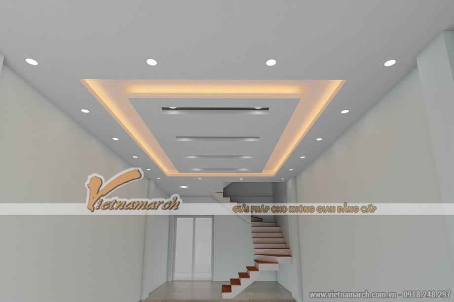 Thiết kế trần thạch cao nhà phố cho gia đình chị Hạnh - Hải Dương - 02