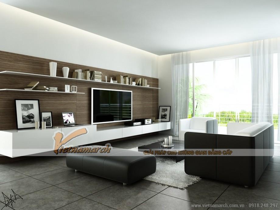 Mẫu trần thạch cao cho phòng khách căn hộ chung cư D'.Le Roi Soleil Quảng An - 05