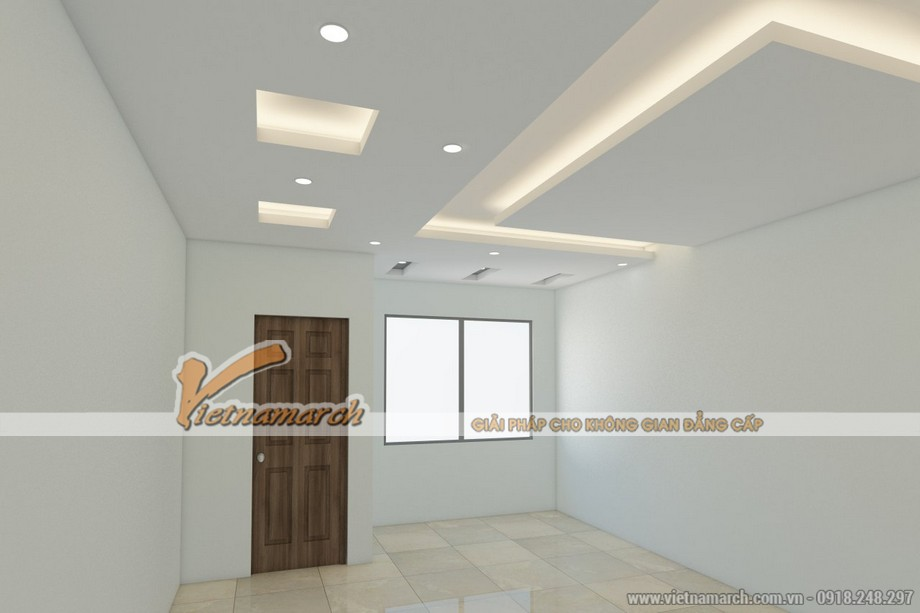 Thiết kế trần thạch cao nhà phố cho gia đình chị Hạnh - Hải Dương - 06