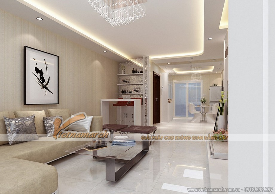Thiết kế trần thạch cao cho nhà ống của gia đình bác Đức - Bắc Ninh - 01