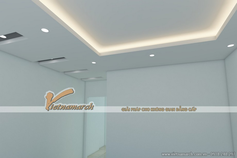 Thiết kế trần thạch cao nhà phố cho gia đình chị Hạnh - Hải Dương - 07