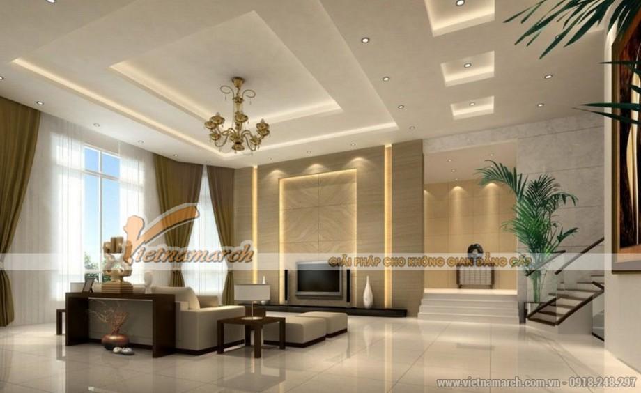 Mẫu trần thạch cao hiện đại cho căn hộ chung cư D'. Le Roi Soleil Quảng An - 02