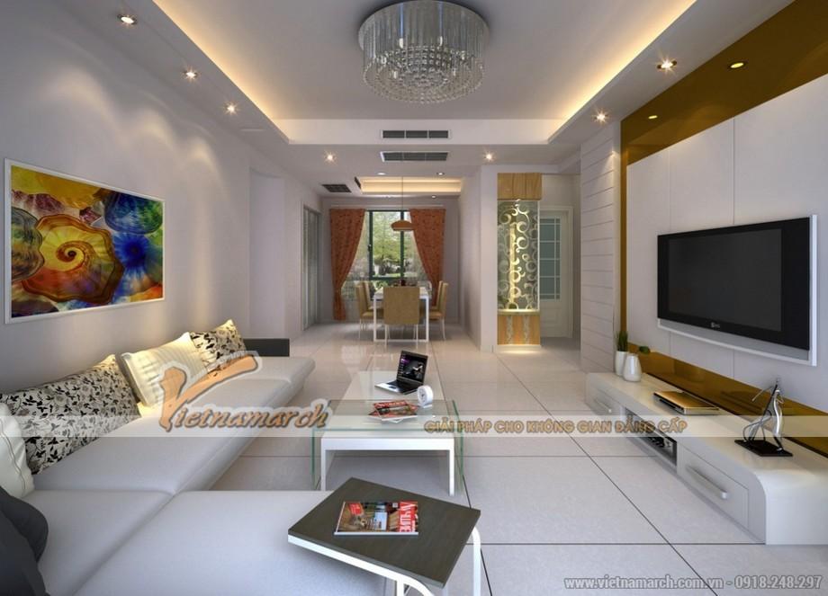 Mẫu trần thạch cao hiện đại cho căn hộ chung cư D'. Le Roi Soleil Quảng An - 03