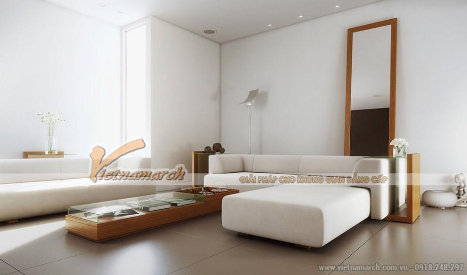 Chiêm ngưỡng mẫu trần thạch cao phẳng cho phòng khách tại chung cư Times City - 07